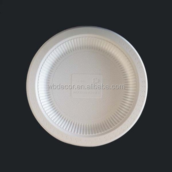 Biodegradable Disposable Corn Starch Round Plate