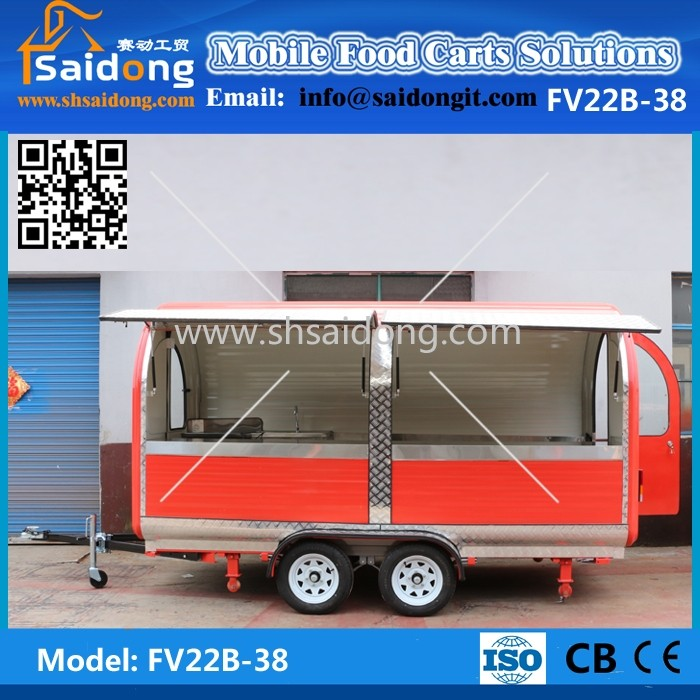 64109f3ce4 Satisfied after-sale service used food trucks for sale in germany potato  chips food trailer with big stainless steel wheels