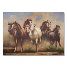 High quality handmade 8 wild running horses painting animal drawing pictures oil painting