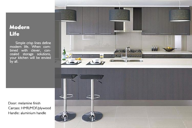 Modular Negro Melamina Gabinetes De Cocina Moderna Imagen Australia ...