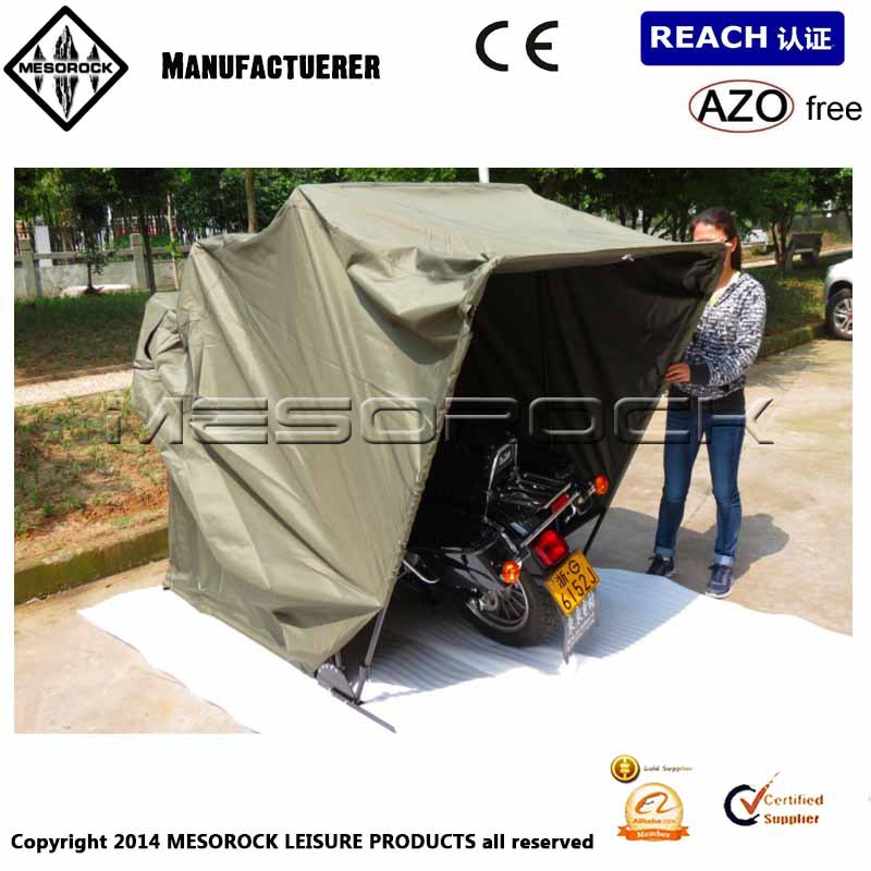 Motorcycle Covers For Outside Storage : Motorcycle shelter storage tent outdoor bike cover