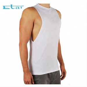 Wholesale Cheap Custom Made Fitness Tank Tops Mens Sports Gym Clothing