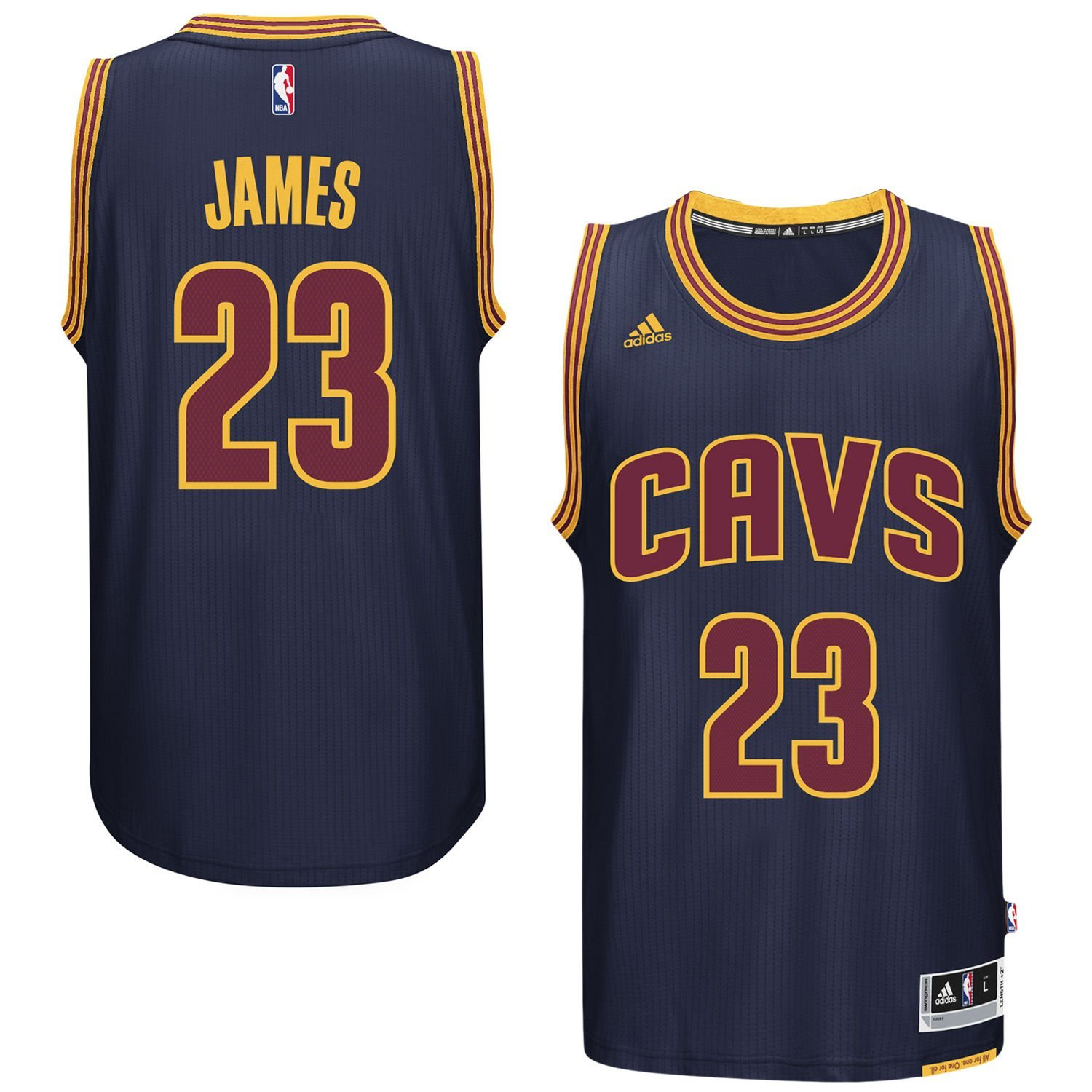 8f987b340202 Get Quotations · LeBron James Cleveland Cavaliers  23 Navy NBA Youth  Alternate Swingman Jersey