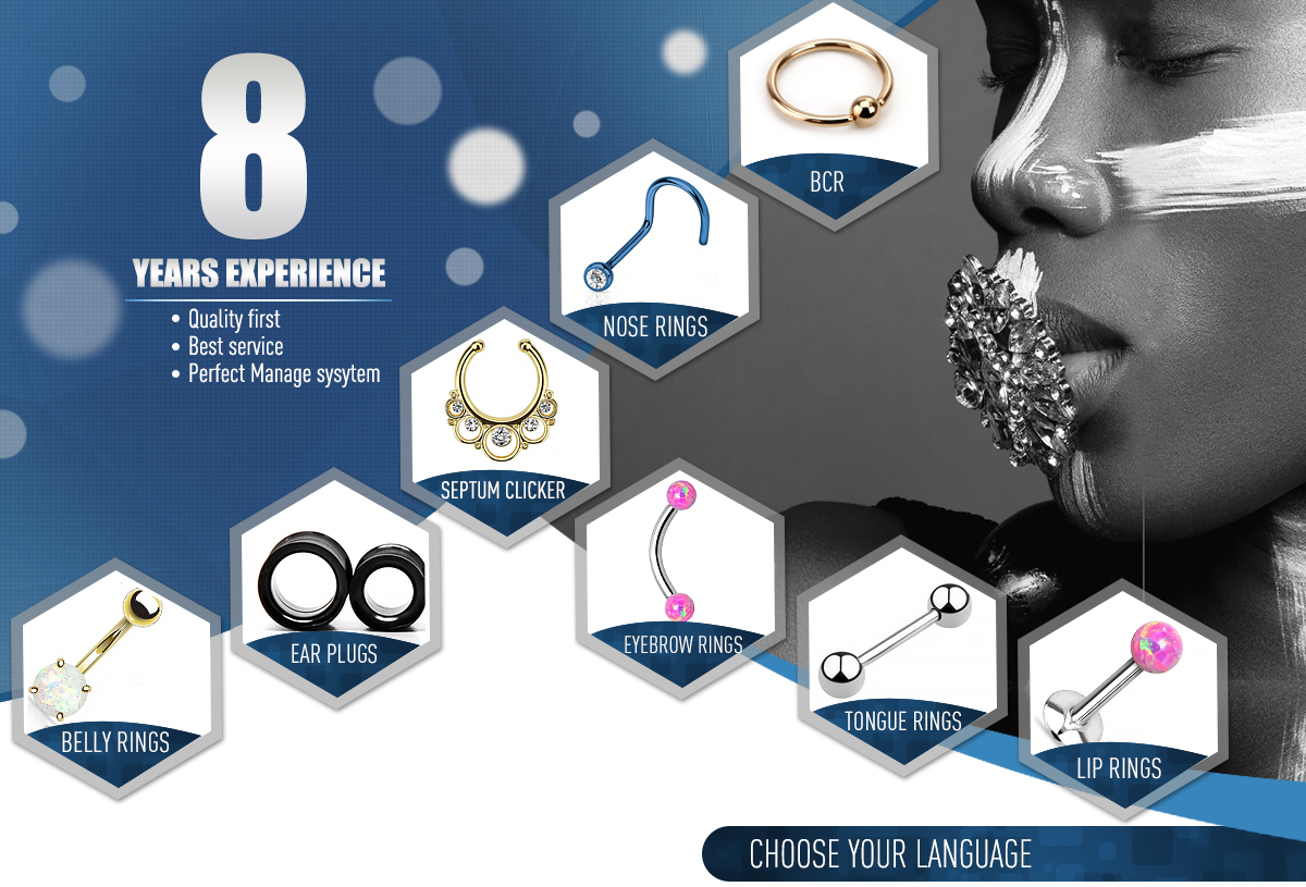 Charm Septum Clicker Crystal Nose Ring Non Piercing Hanger ClipOn Jewelry  HU