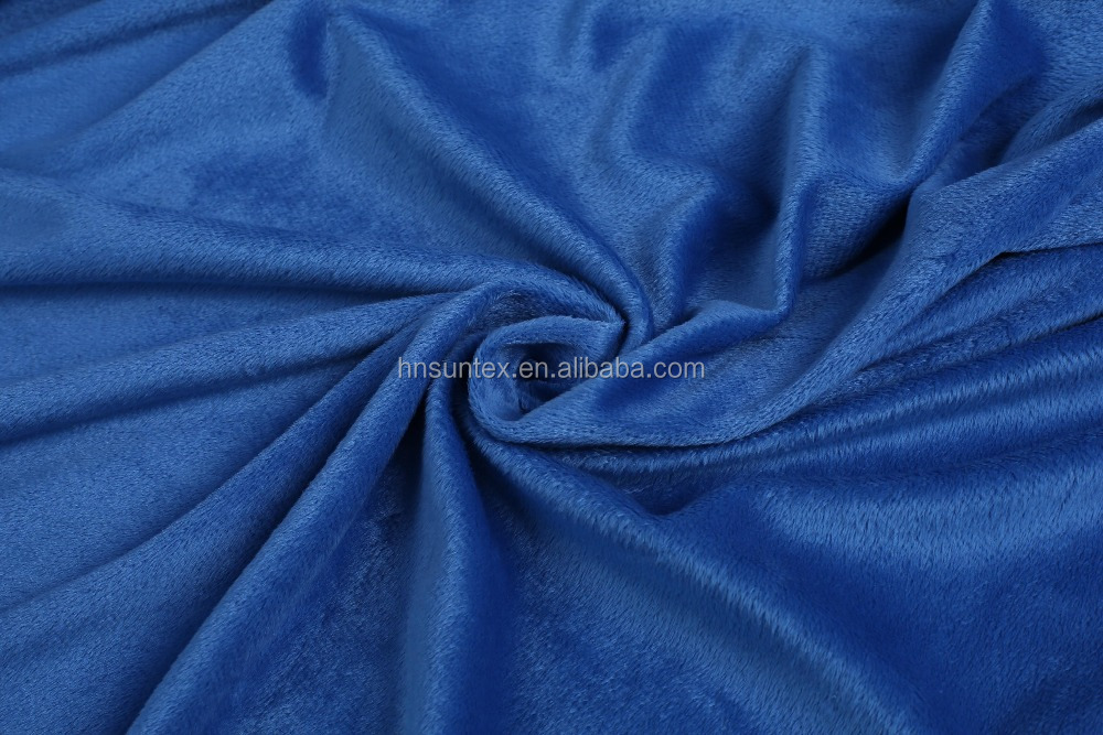 100% polyester knitted micro velvet korea velvet fabric for sofa