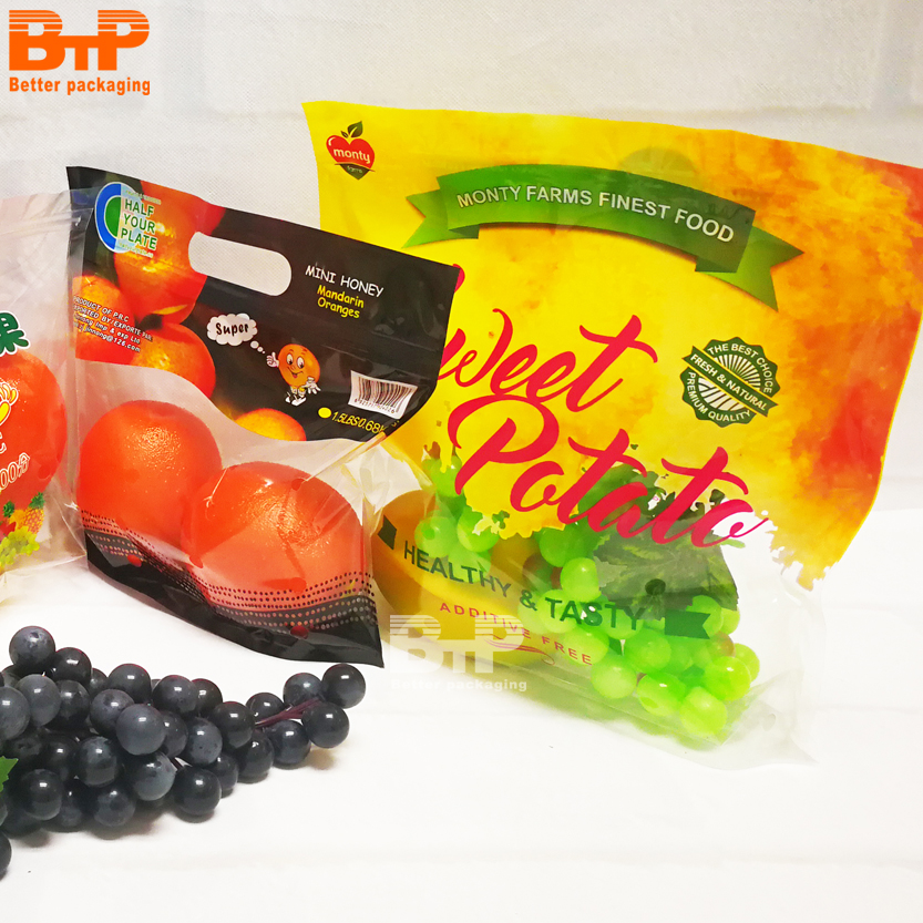 Customized Printing Mesh Fruit Packaging Bags For Supermarket Orange Sell