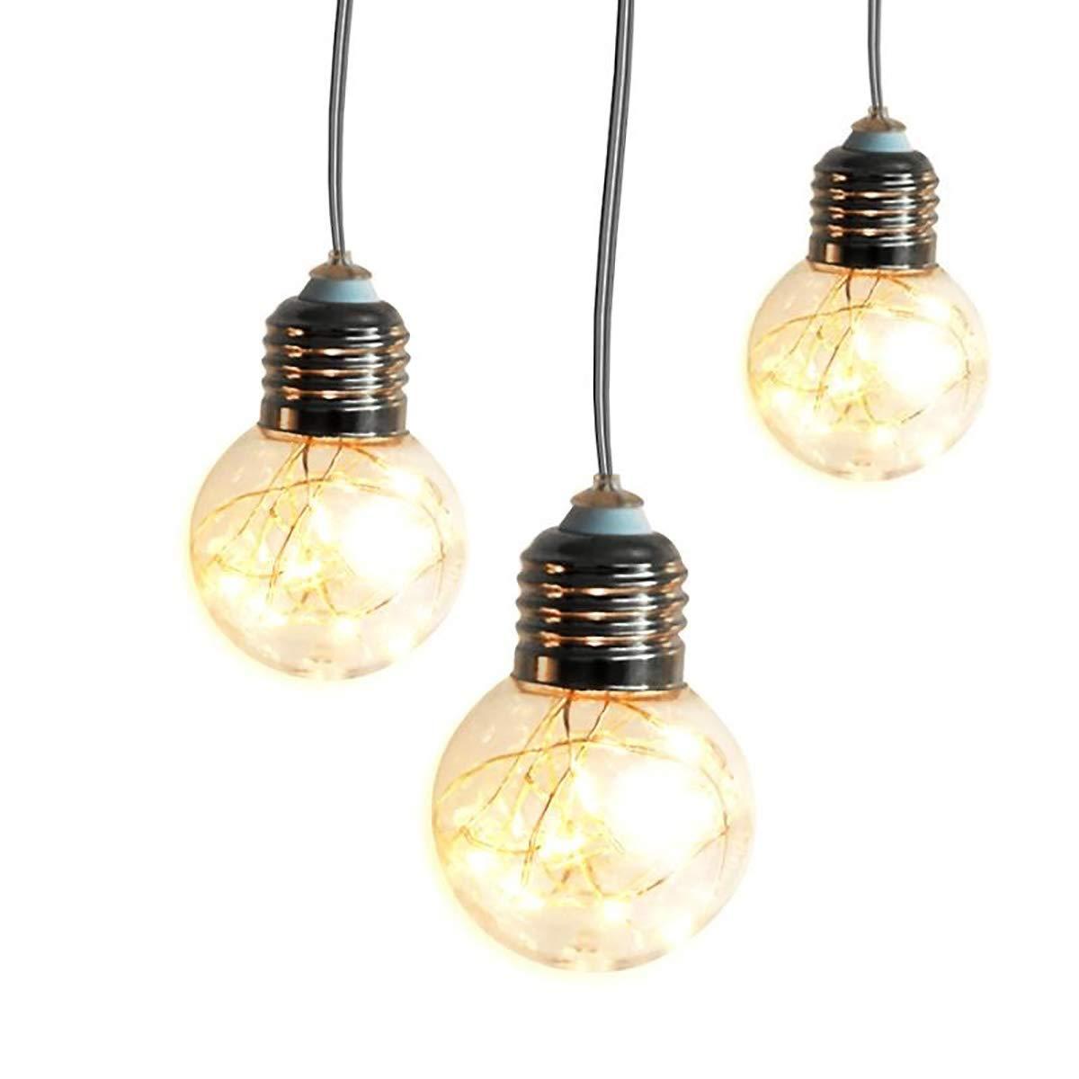 Chasgo LED Globe String Light Battery Powered With 10LED Bulbs, 6.8Ft LED Room Deor Light String For Bedroom Wedding Birthday Christmas Lights Decor, Warm White