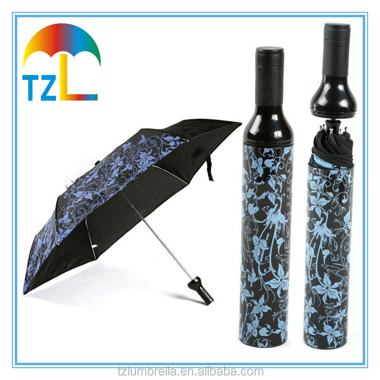 Heat Transparant Cheap Customized Wine Bottle Promotion Umbrella
