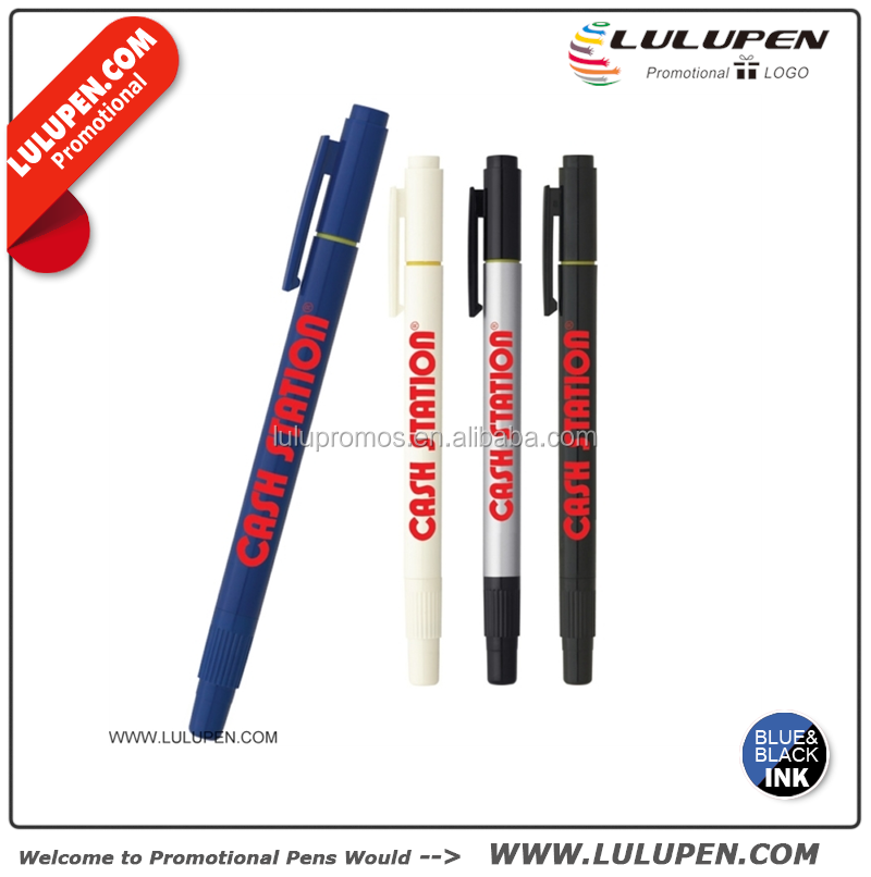 Customized The Dual-Tip Pen-Highlighter Promotional Highlighter/Pen Combos (Lu-BH2113)