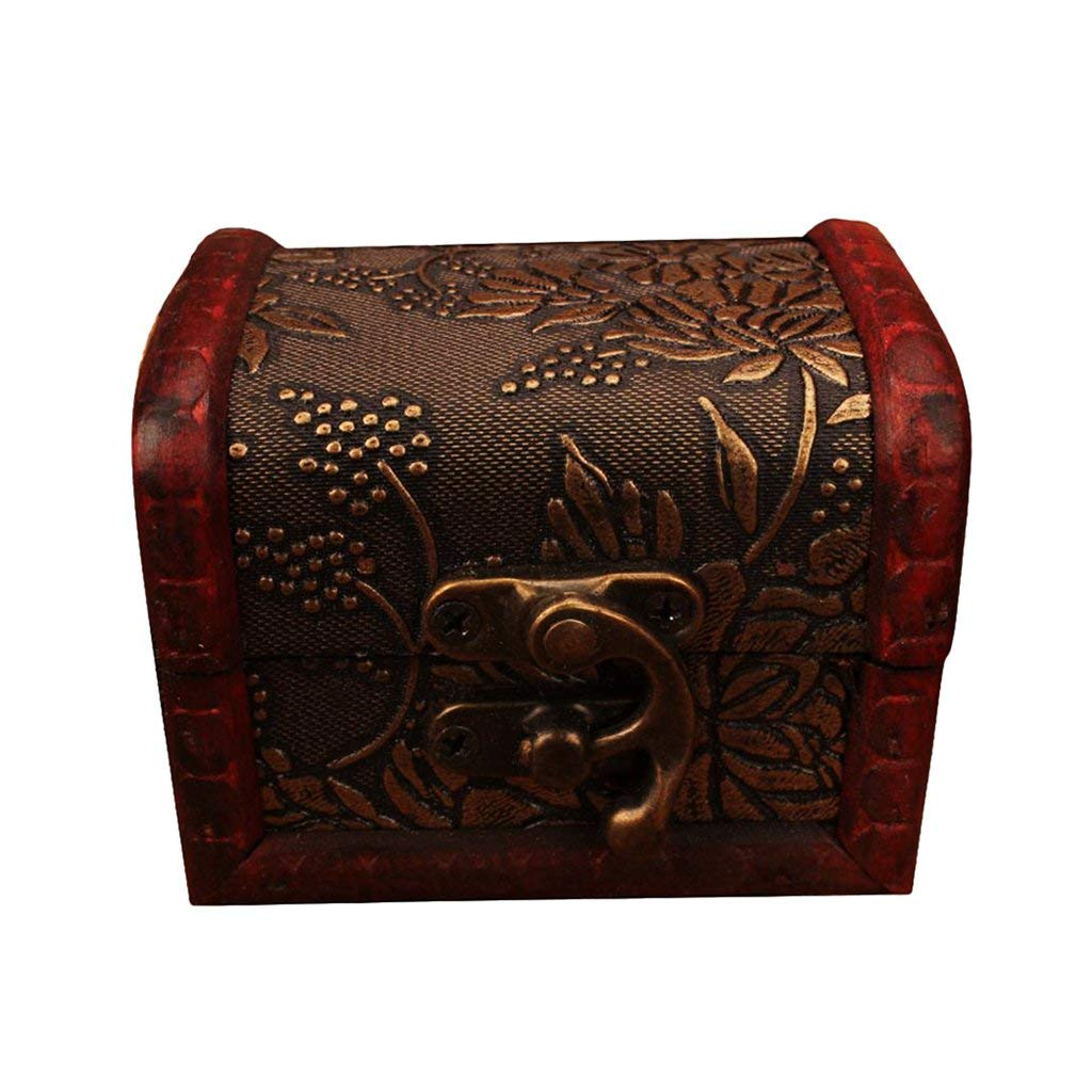 Homyl Vintage Antique Wooden Woman Jewelry Box Necklace Storage Box Case Gift Box