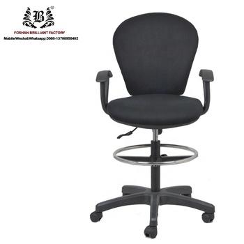 Bureaustoel Met Voetsteun.Pneumatische Hoogte Instelling Stof Bekleed Draaibare Lift