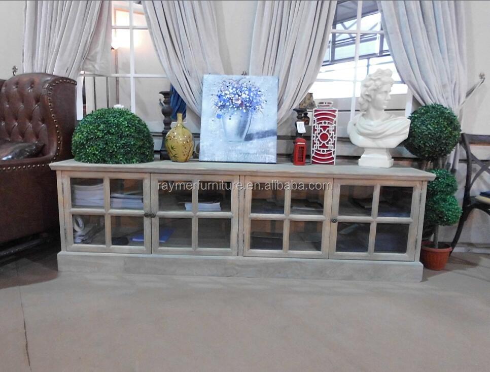 Estilo francés muebles de sala de madera maciza mueble tv rústico ...