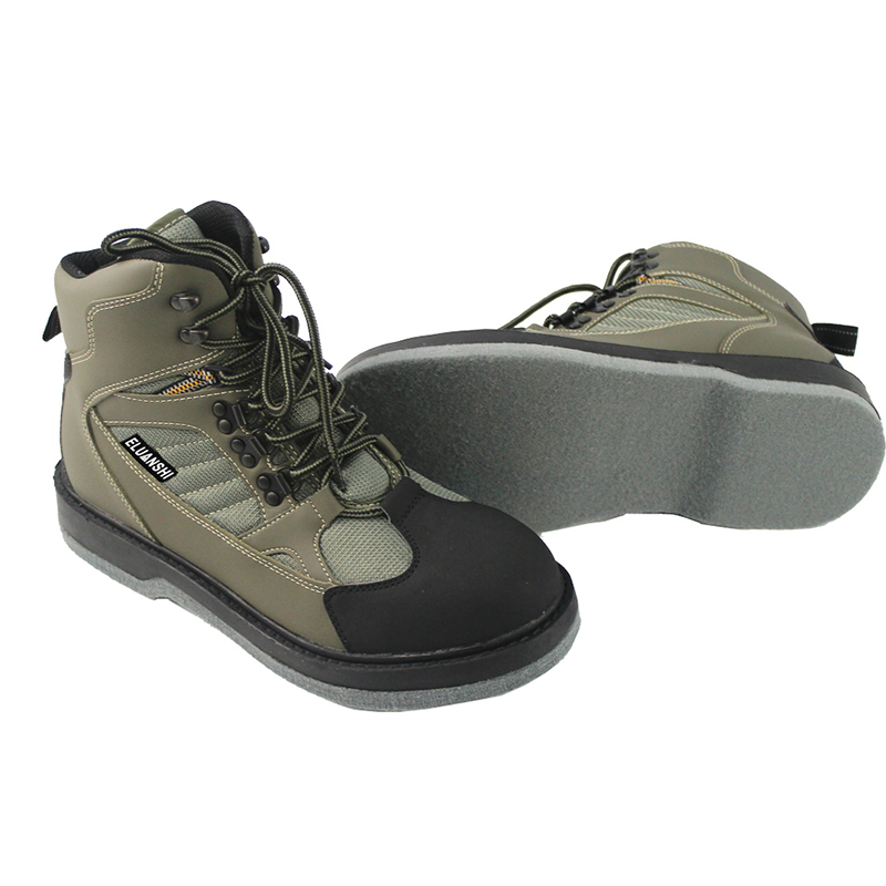 Breathable fly fishing wading shoes wader shoes felt sole wader boots, quick-drying fishing boots, hunting shoes for waders