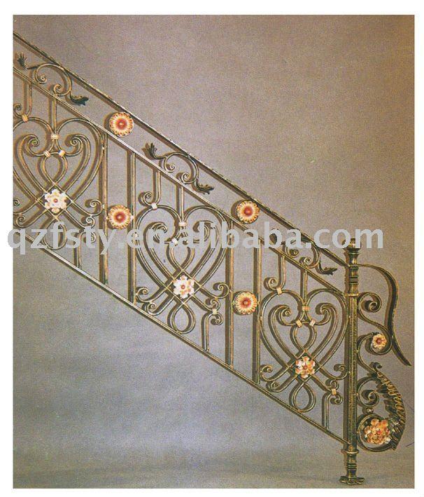 Decorativos de hierro forjado pasamanos de la escalera - Pasamanos de hierro forjado para escaleras ...