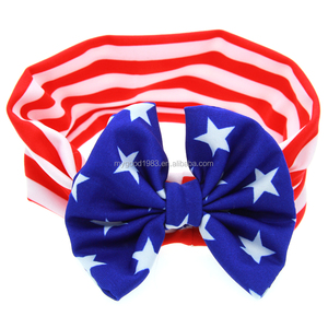 HAOXIE Fashion USA National flag girl headband for wholesale/hair elastic band/Girls' Hair Decoration