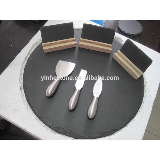 hot selling slate top lazy susan for round dinning table