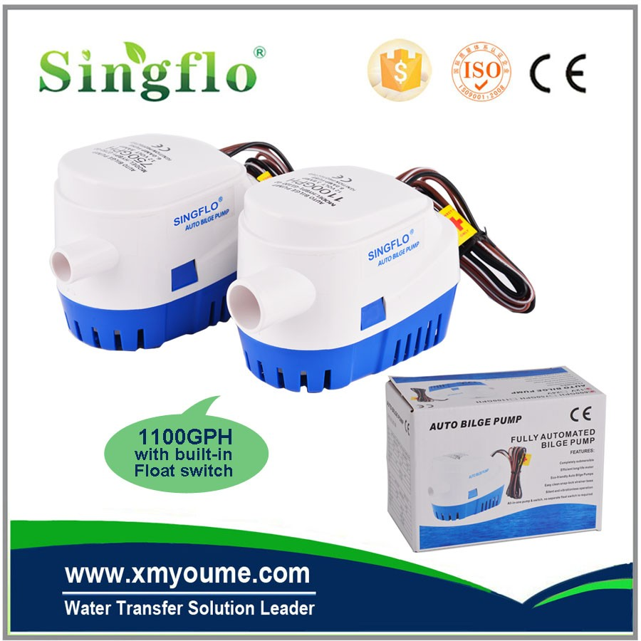 New product 12V/24v 600-1100gph automatic submersible bilge pump