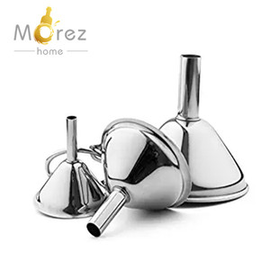Morezhome hot selling 3-piece small stainless steel Funnel Set for Flask Funnel
