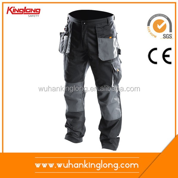 MENS WORK WEAR CARGO COMBAT TROUSERS KNEE PADS POCKETS