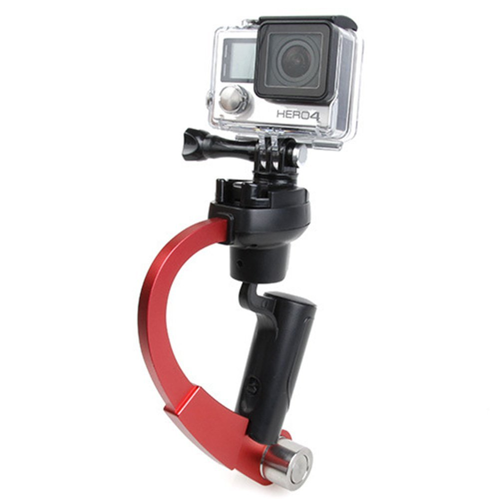 Huayang| Pro Handheld video Camera Stabilizer for GoPro, Perfect for GoPro, Curve Hand Held Stabilizer Support Grip SteadiCam For Camera Gopro 1/2/3/4 Red