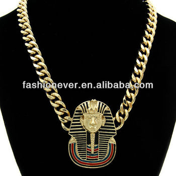 Iced out king tut pendant with cuban link chain egyptian pharaoh iced out king tut pendant with cuban link chain egyptian pharaoh necklace aloadofball Gallery