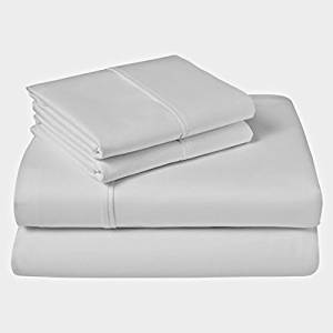 """SRP Linen 600-Thread-Count 100-Percent Cotton Percale Super Soft Hotel Bed 1-Piece Fitted Sheet/Bottom Sheet California King/ Western King Solid White Fit Up to 12"""" inches Extra Deep Pocket Fully Elastic All Around"""
