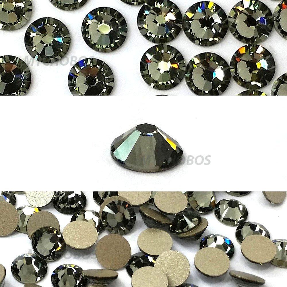 fb4eeb7e31d0b8 Get Quotations · 144 pcs Black Diamond (215) Swarovski 2058 Xilion   NEW 2088  Xirius 20ss Flat