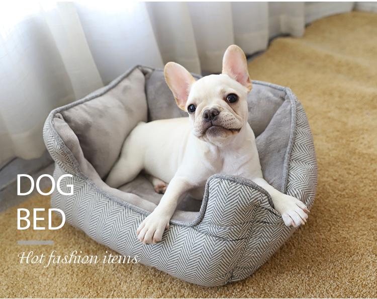 Mode Goedkope Custom Leuke Luxe Zachte Kleine Huisdier Bed voor Hond