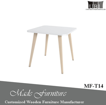 Modern design rubber wooden side table MF-T14