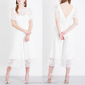 White Lace Sexy Wedding Jumpsuit With A Deep V Neck At Back Buy