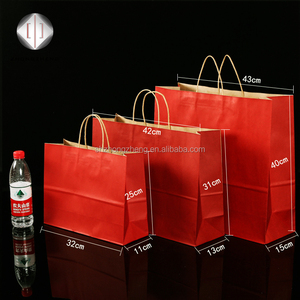 Factory SGS certificated natural crafts paper carry bag for shopping/gift