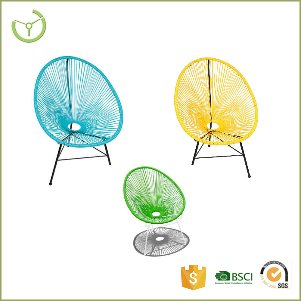 HL-C-15026 cheap mail order KD colorful rattan wicker replica acapulco chair