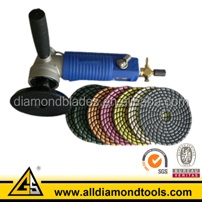 "5""(4"" )Air Wet Polisher Granite Polishing Tool"