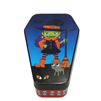 Customized Halloween Vampire coffin gift tin box