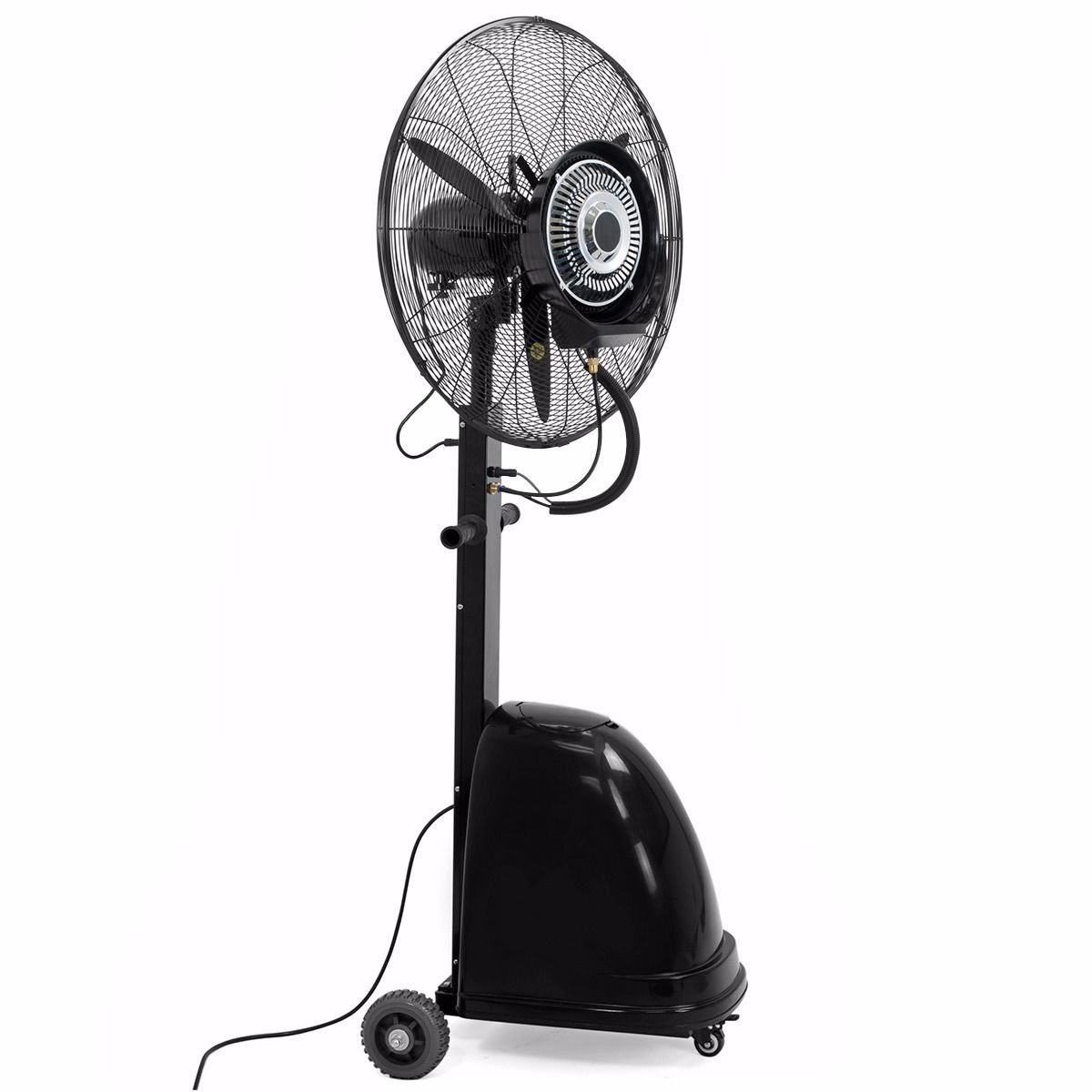 """MTN Gearsmith New Commercial 26"""" High-Velocity Outdoor indoor Misting Fan Black Industrial Cool"""