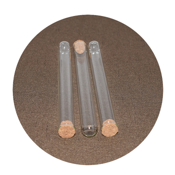 Customize glass test tube with cork or resistant cap