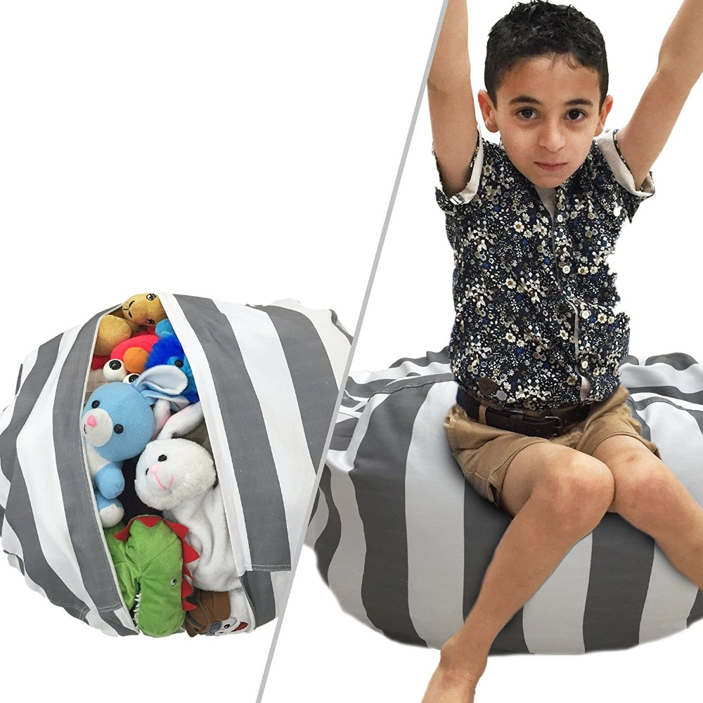 Stuffed Animal Storage Bean Bag Chair For Blankets
