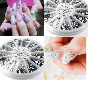 5 Sizes Nail Art Tips Crystal Glitter Rhinestone 3d Nail Art ...