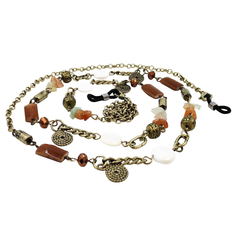 39473afc17e Get Quotations · Kalevel Eyeglass Holder Necklace Glasses Strap Beaded  Eyeglass Chains (Retro)