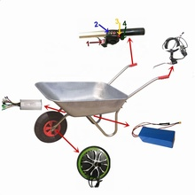 3-6km/h 10inch 500w electric wheelchair wheelbarrow motor kit with strong tire