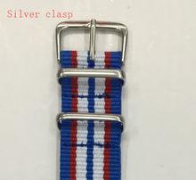 Ремешок для наручных часов с двойной пряжкой, водонепроницаемый ремешок для часов D & W Nato, 14 мм, 18 мм, 20 мм, нейлоновый ремешок для часов для му...(Китай)