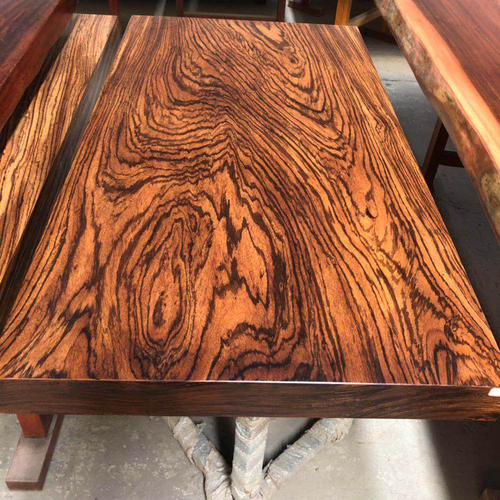 African Zebra Wood Slab Dining Table In Stock Wood Thickness 4inch