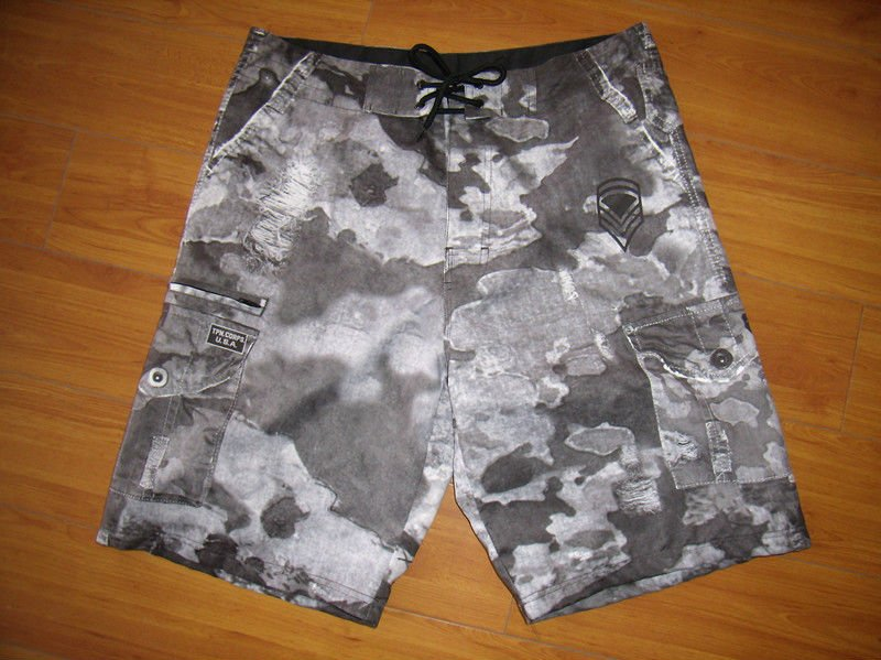 men's washed effect swimming shorts