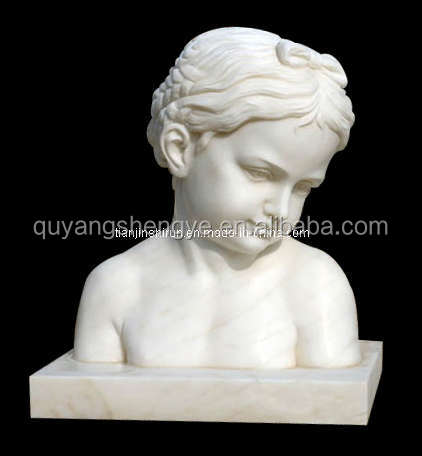 children marble bust for decoration