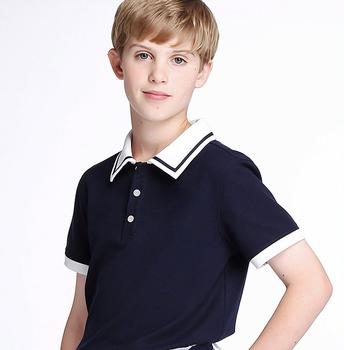 5d7fff6c Wholesale Primary School Uniforms Custom Kids Plain Navy Blue Polo Shirts  Design