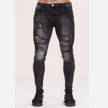 mejor elección 100% genuino paquete elegante y resistente Nuevo Modelo De Pantalones Vaqueros Rotos Hip-hop Apretado Con Estilo De  Jeans Casual Para Hombres - Buy Vaqueros Ajustados Con Estilo ...