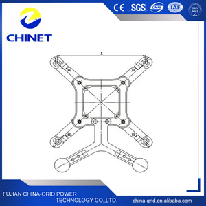 Overhead Power Line Accessory Square Frame Spacers Dampers(Double Direction Pendulum))
