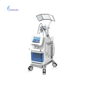 vertical microdermabarsion hydro ultrasonic skin scrubber Microcurrent Face Lift Machine for spa Non-surgical Face Lift Equipmen