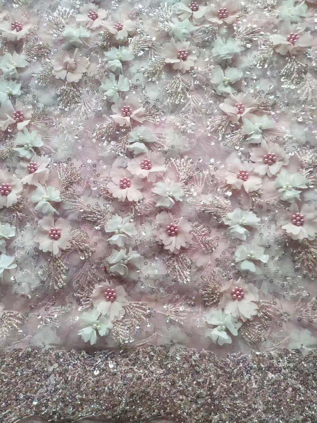 3d flower lace discount lace fabric floral lace fabric
