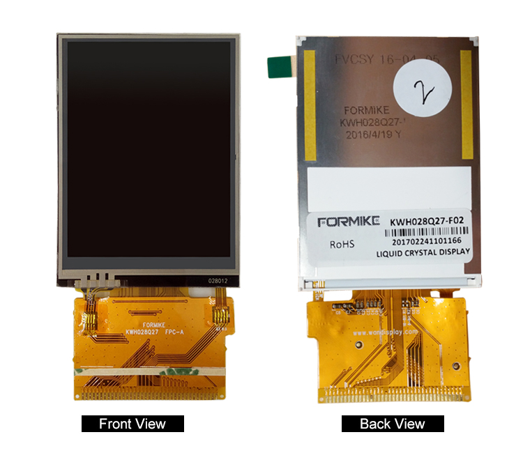 2.8 inch display module resistive panel touch screen tft lcd for consume electronics